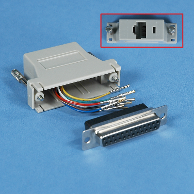 MODULAR ADAPTER  DB25 FEMALE to RJ45