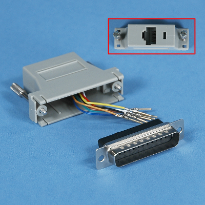 MODULAR ADAPTER  DB25 MALE to  RJ45