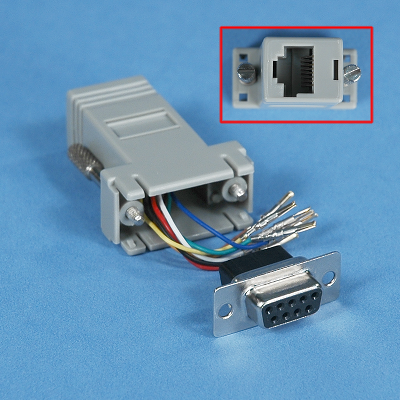 MODULAR ADAPTER  DB9 FEMALE  to RJ45