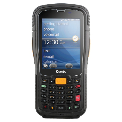 Sam4s SHR 1000 1D Rugged Handheld Computer with Numeric Keypad  1D Scanner/Wifi/BT/Pistol Grip