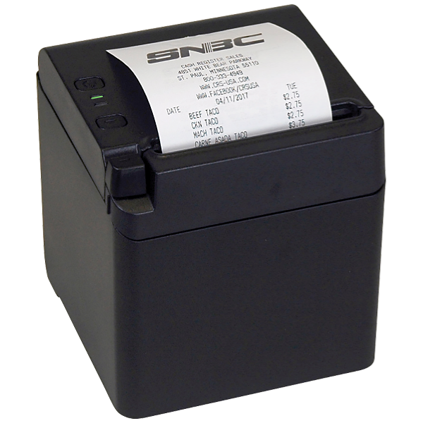 SNBC BTP-S80 Thermal Printer - Black Cabinet (USB/Serial/Ethernet)