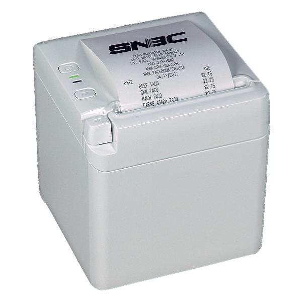 SNBC BTP-S80 Thermal Printer - White Cabinet (USB/Serial/Ethernet)