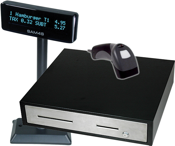 Scanners, Scales, Kitchen Video, Customer Displays, and Coin Dispensors